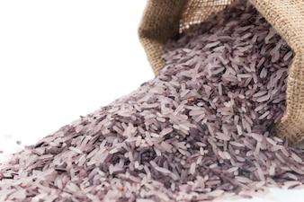 Sack avec du riz de baies