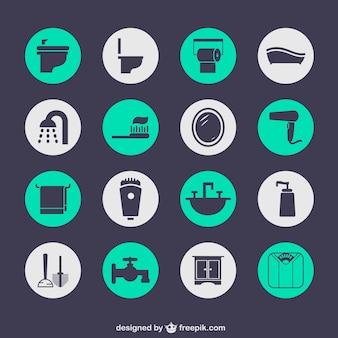 Salle de bains icônes gratuites