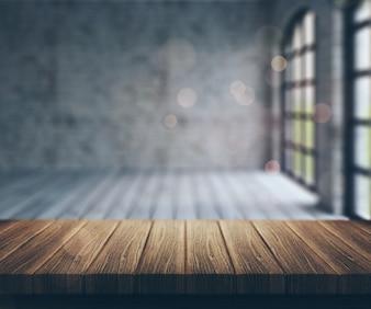 Salle de Blur avec des fenêtres