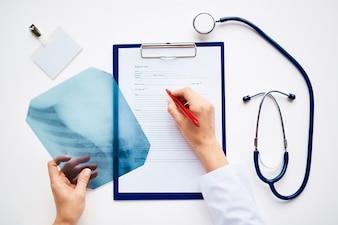 Santé médecin d'assurance-maladie xray humain