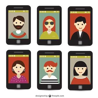 Selfie avec un téléphone intelligent