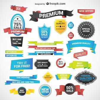 Étiquettes commercial discount