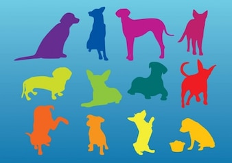 silhouettes chiens