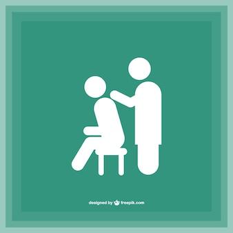 Silhouettes de massage logo