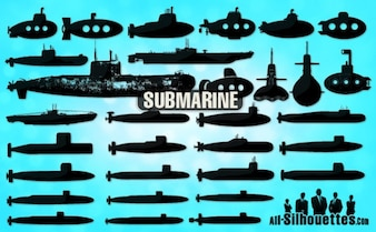 Silhouettes sous-marins