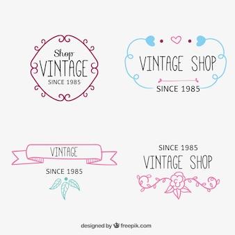 Sketchy boutique logos millésime