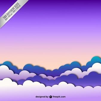 Ciel avec des nuages de fond