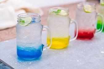 Soda italienne colorée