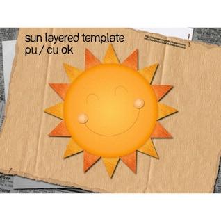 Soleil fait de couches de papier
