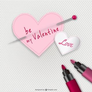 Soyez ma carte de valentine