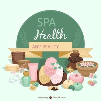 Modèle de santé et de beauté spa