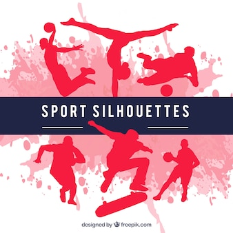 Sport silhouettes rouges