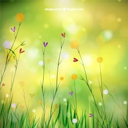 Spring background avec des fleurs