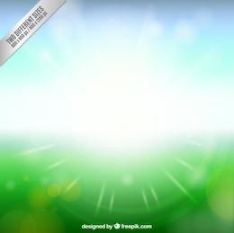 Spring background avec le soleil