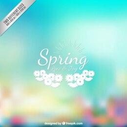spring background dans le style floue