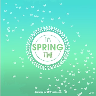 Spring background de temps