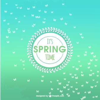 Spring background de temps