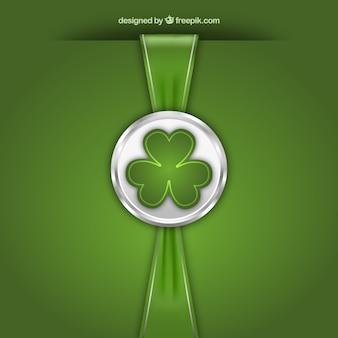 St Patricks jour timbre avec ruban