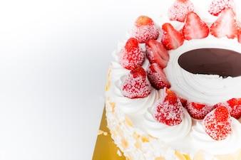 Strawberry cake crème glacée