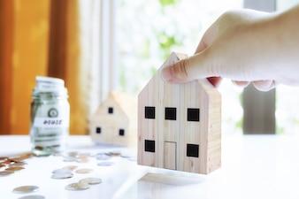 Structure économique prêt hypothécaire location blanc