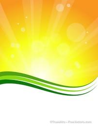 Sunburst fond avec des lignes vertes
