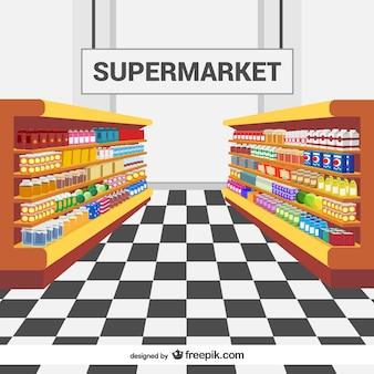 Les rayons des supermarchés vecteur