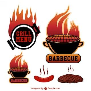 Symboles de vecteur Barbecue