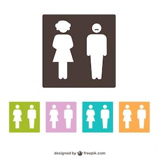 Symboles toilettes de genre