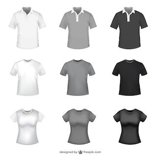 T-shirt modèles vecteur libre