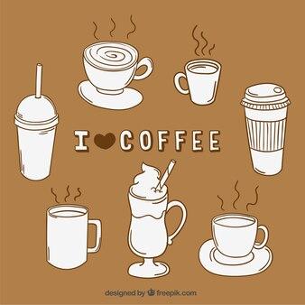 tasses de café illustration