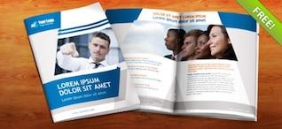 Template gratuit Livret PSD - 8 pages