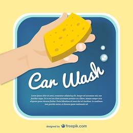 Template vecteur de lavage de voiture