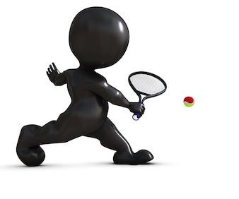 Tennis de joueur retournant une balle