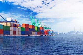 Terminal de conteneurs? Wharf, transport