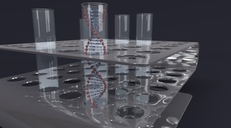 Test tube contenant dna