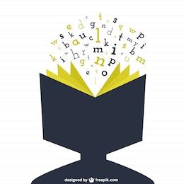 Tête humaine comme un livre ouvert