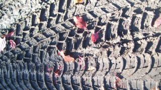 Texture empreinte de pneu, de l'automobile