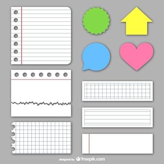 Textures et des autocollants en papier