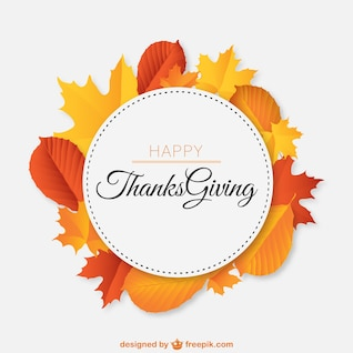 Thanksgiving vecteur libre