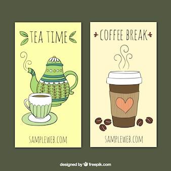 Thé et café bannières
