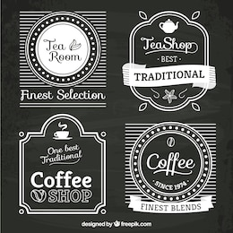 Thé et cafés logos