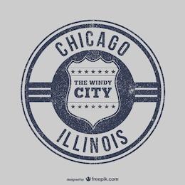Timbre vecteur chicago