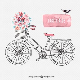 Tiré par la main rétro vélo