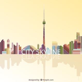 Toits de la ville colorée