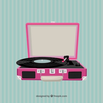 Tourne-disque rose