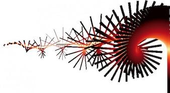 Trail ligne spirale abstrait