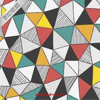Triangles fond dans le style tiré par la main