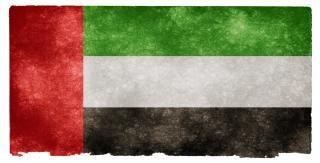 Uae grunge drapeau arabe