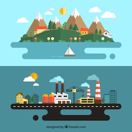Urbain et paysage rural