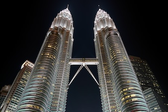 Urbaine élevée klcc ciel malaisie